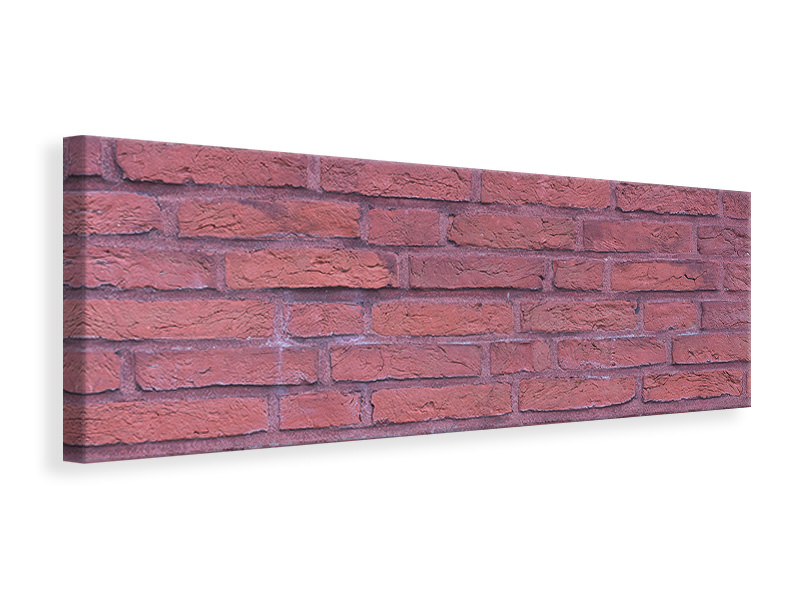Panorama Canvastavla Lacquered clinker bricks