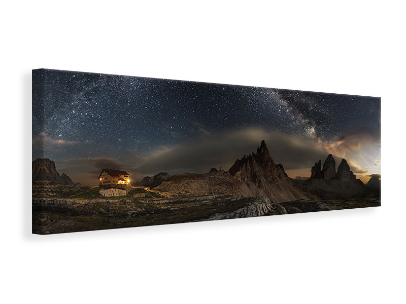 Panoramic Canvas Print Galaxy Dolomites