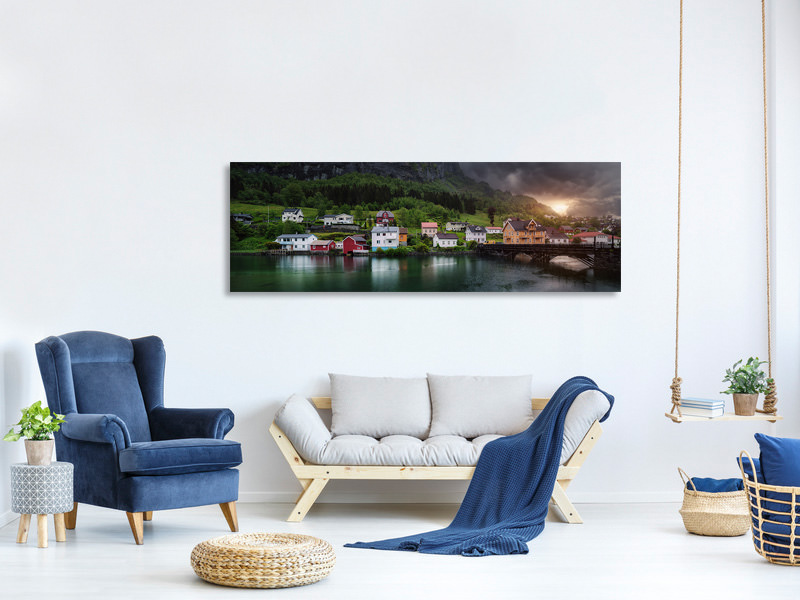Panoramic Canvas Print Stryn