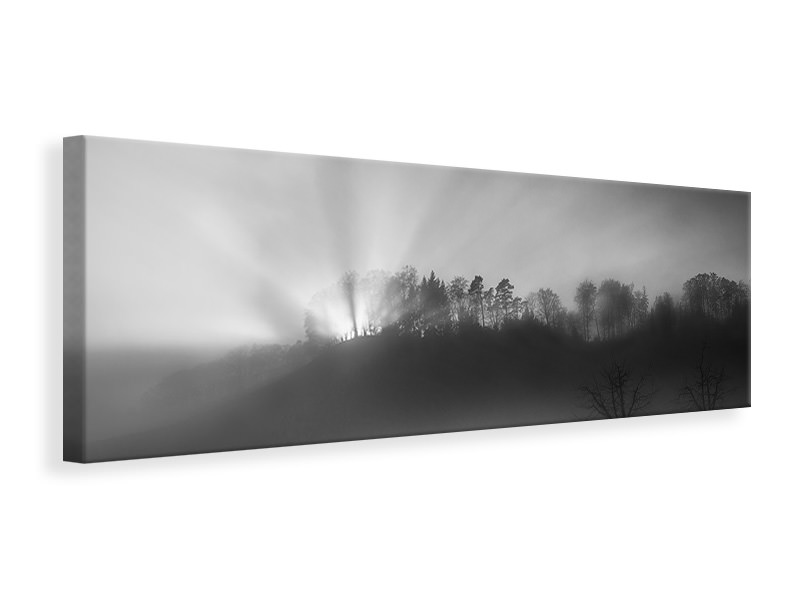 Panoramic Canvas Print The Sun In The Fog