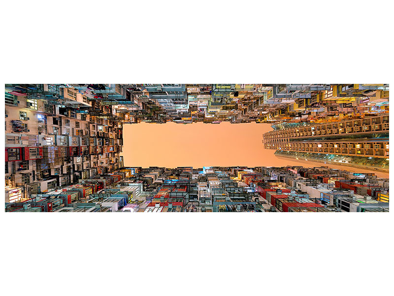 Panoramic Canvas Print Crowded Spaces