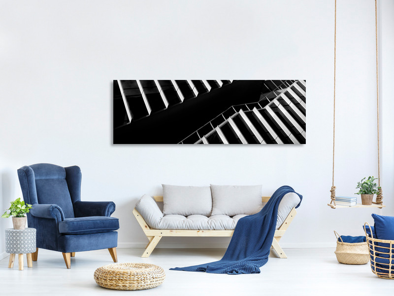 Panoramic Canvas Print Up Between The Facades