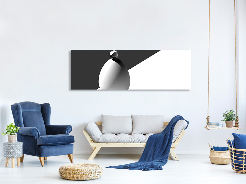 Panoramic Canvas Print Drops On Egg