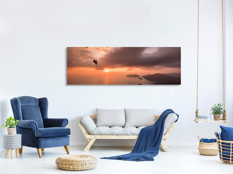 Panoramic Canvas Print Ready To Shoot