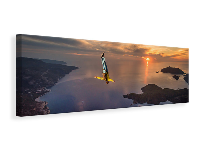 Panoramic Canvas Print Freefalling With Guillaume Galvani