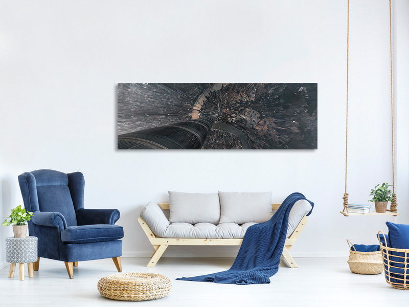 Panoramic Canvas Print Dive Into The Matrix