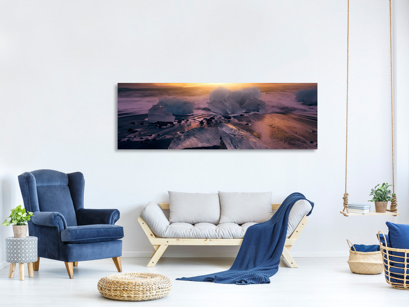 Panoramic Canvas Print Jokulsarlonas Sunrise II