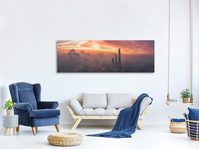 Panoramic Canvas Print Bay Of Colour