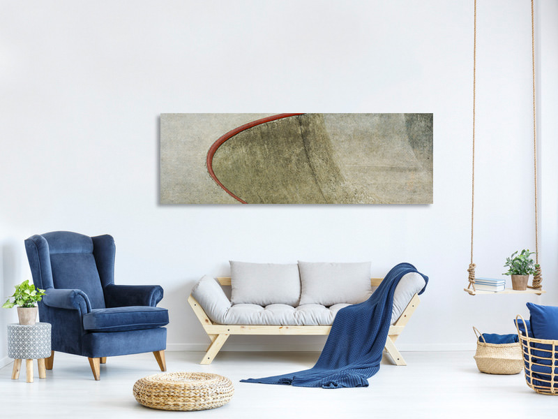 Panoramic Canvas Print The Red Curve
