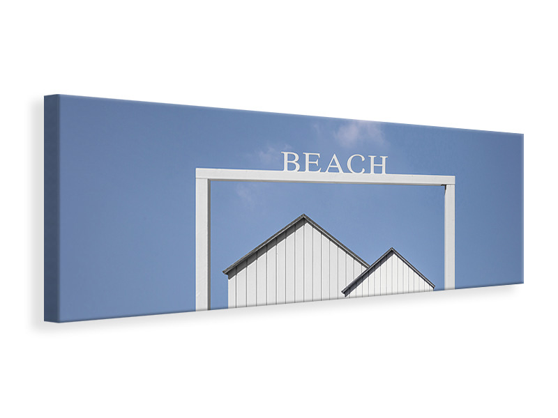 Panoramic Canvas Print Beach