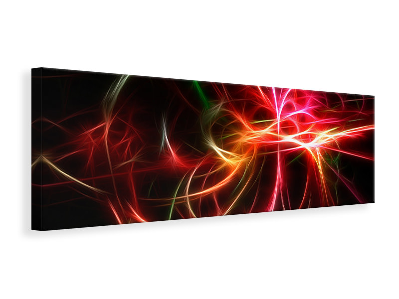 Panoramic Canvas Print Fraktally Light Spectacle
