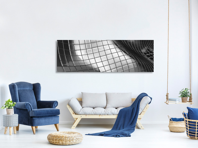Panoramic Canvas Print Abstract Steel