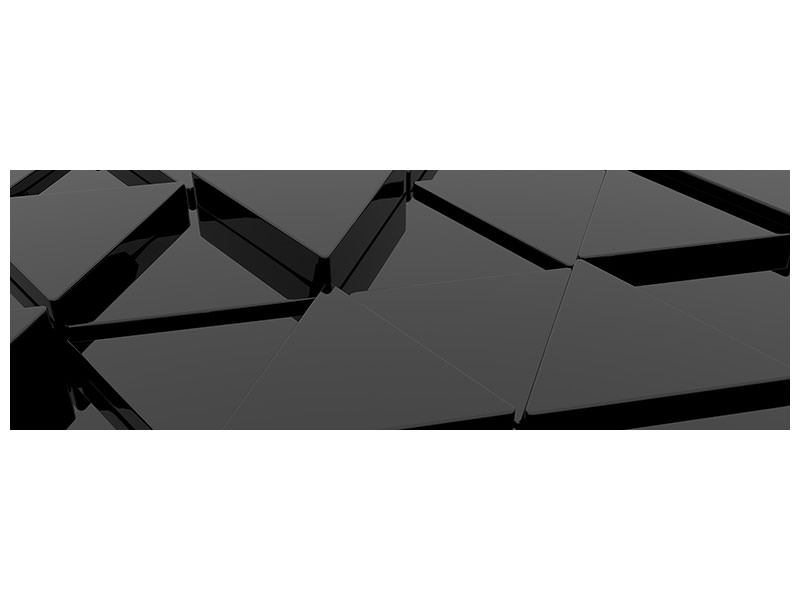 Panoramic Canvas Print 3D Triangular Surfaces