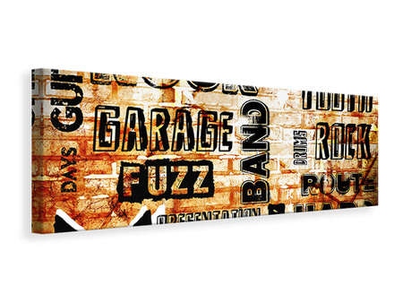 Panoramic Canvas Print Rock In Grunge Style