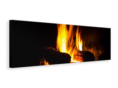 Panoramic Canvas Print The Fireplace