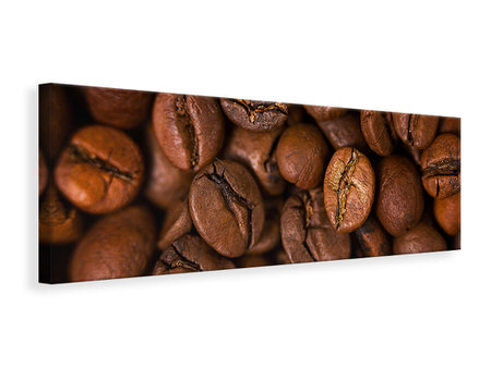 Panorama Canvastavla Close Up Coffee Beans