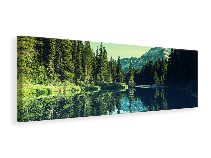 Panoramic Canvas Print The Music Of Silence In The Mountains