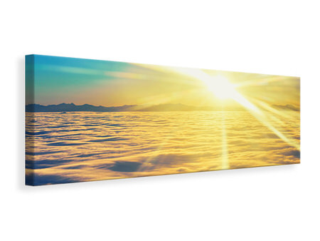 Panoramic Canvas Print Sunset Above The Clouds