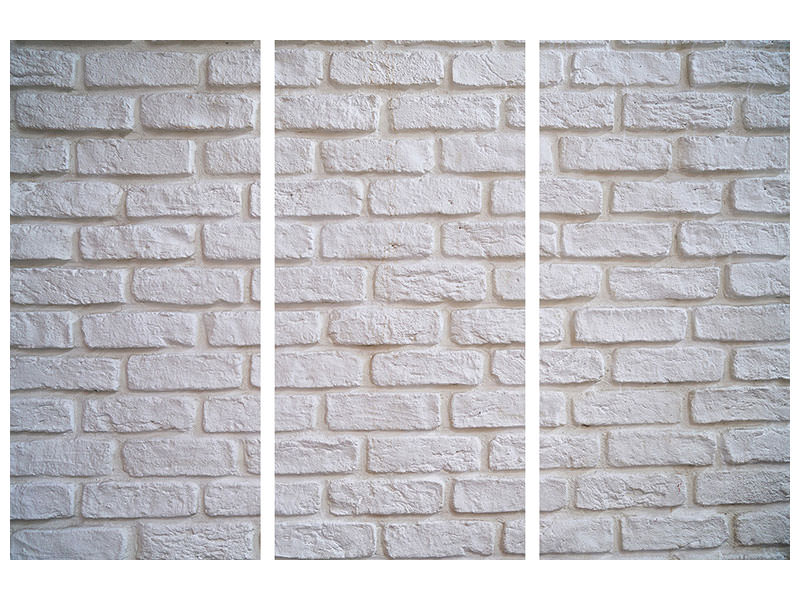 3 Piece Canvas Print wall stones