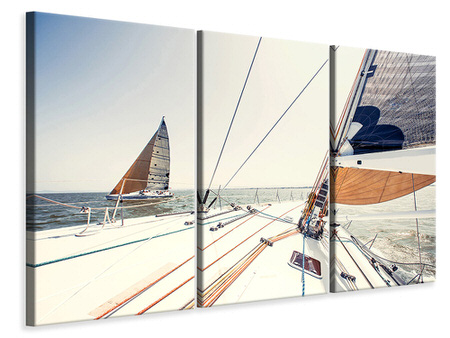3 Piece Canvas Print Yacht