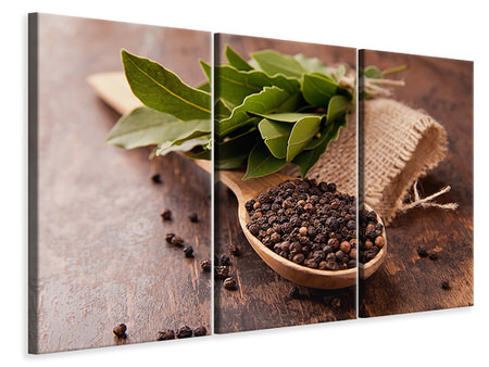 3 Piece Canvas Print Pepper Spoon