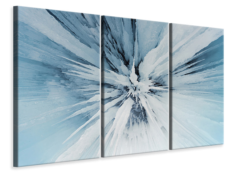 3 Piece Canvas Print Ice Art