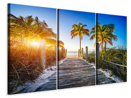 3 Piece Canvas Print Beach Away
