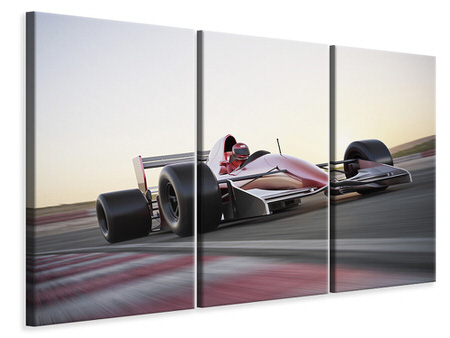 3 Piece Canvas Print Racetrack