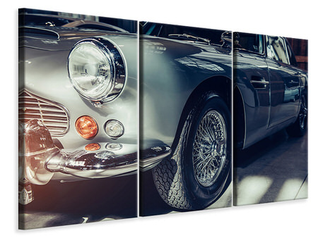 3 Piece Canvas Print Classic Car