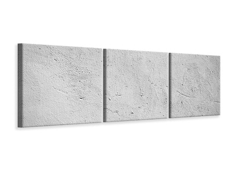 Panoramic 3 Piece Canvas Print Concrete