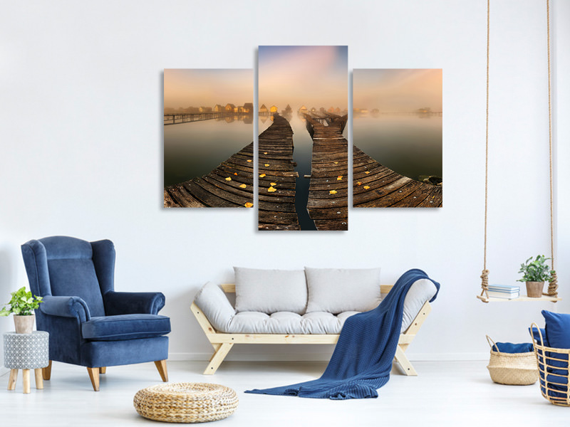 Modern 3 Piece Canvas Print Mist A