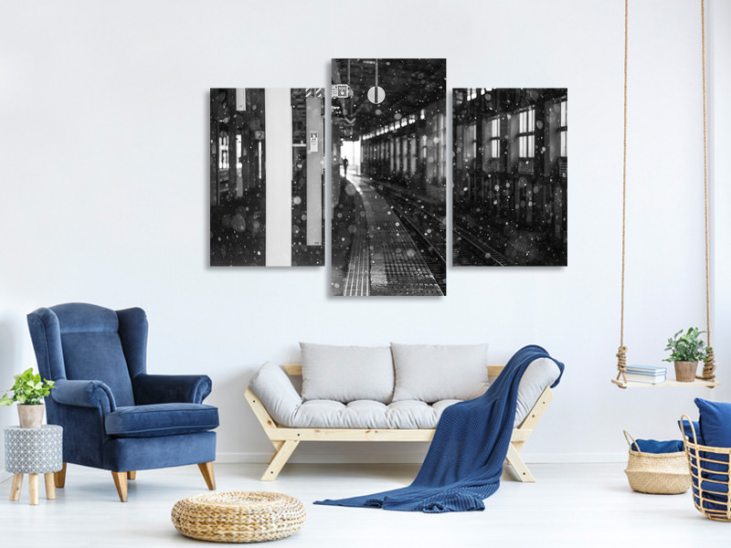 Modern 3 Piece Canvas Print Departure A