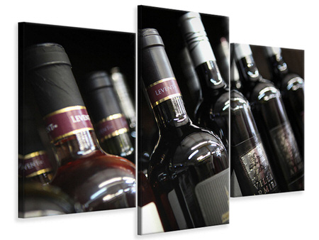 Modern - Canvastavla 3-delad Bottled Wines