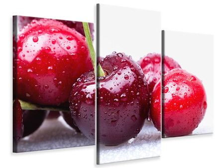 Modern - Canvastavla 3-delad Cherries