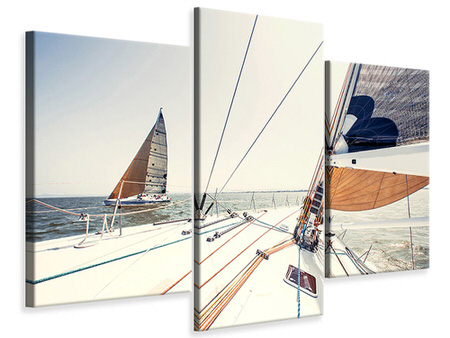 Modern 3 Piece Canvas Print Yacht
