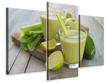 Modern - Canvastavla 3-delad Smoothie