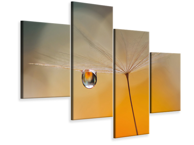 Modern 4 Piece Canvas Print Little Night Music