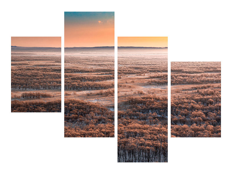 Modern 4 Piece Canvas Print Dawn