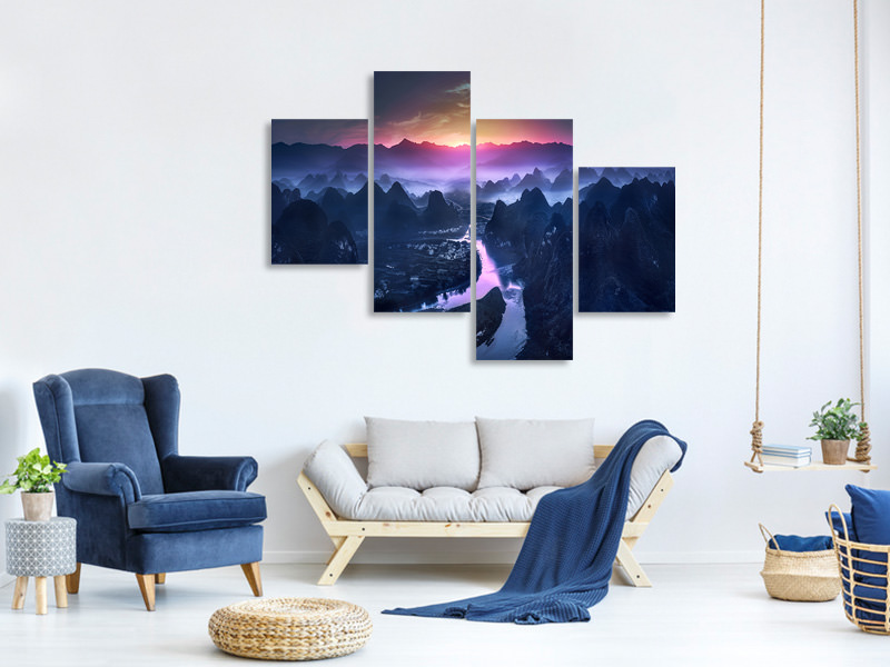 Modern 4 Piece Canvas Print The Earth Awakening
