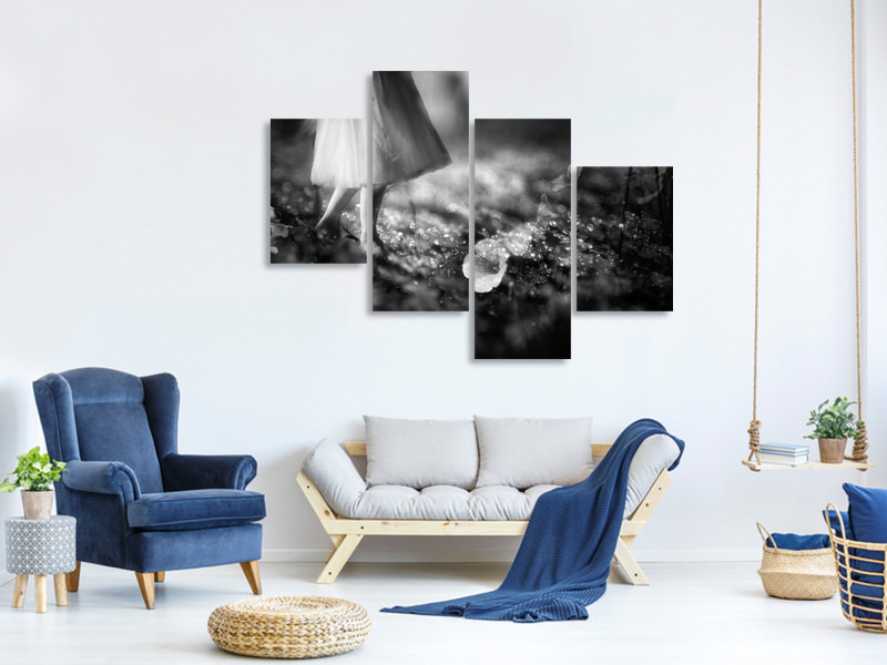 Modern 4 Piece Canvas Print Through The Eyes Of A Child