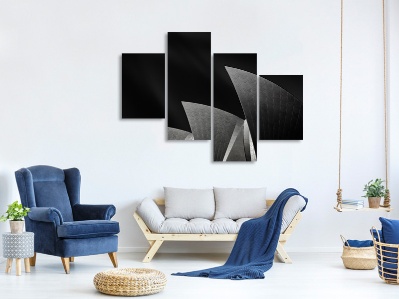 Modern 4 Piece Canvas Print Like A Famous Three-Mast
