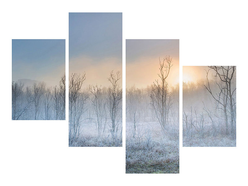 Modern 4 Piece Canvas Print A Touch Of Winter