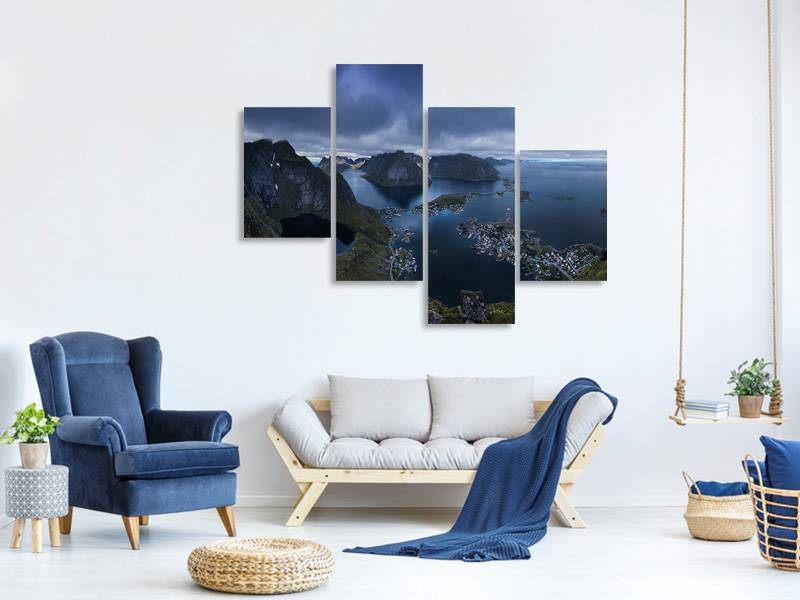Modern 4 Piece Canvas Print Reine