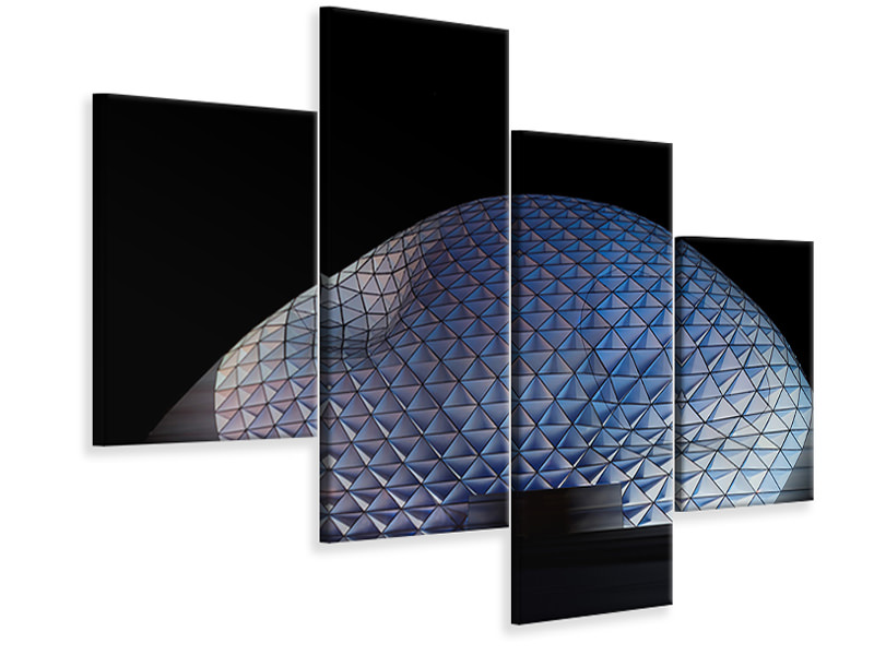 Modern 4 Piece Canvas Print Glowing Blob