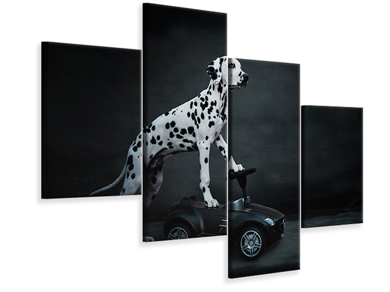 Modern 4 Piece Canvas Print His Bobby Car