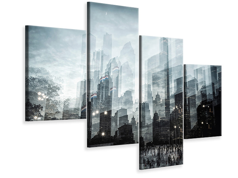 Modern 4 Piece Canvas Print Untitled 49