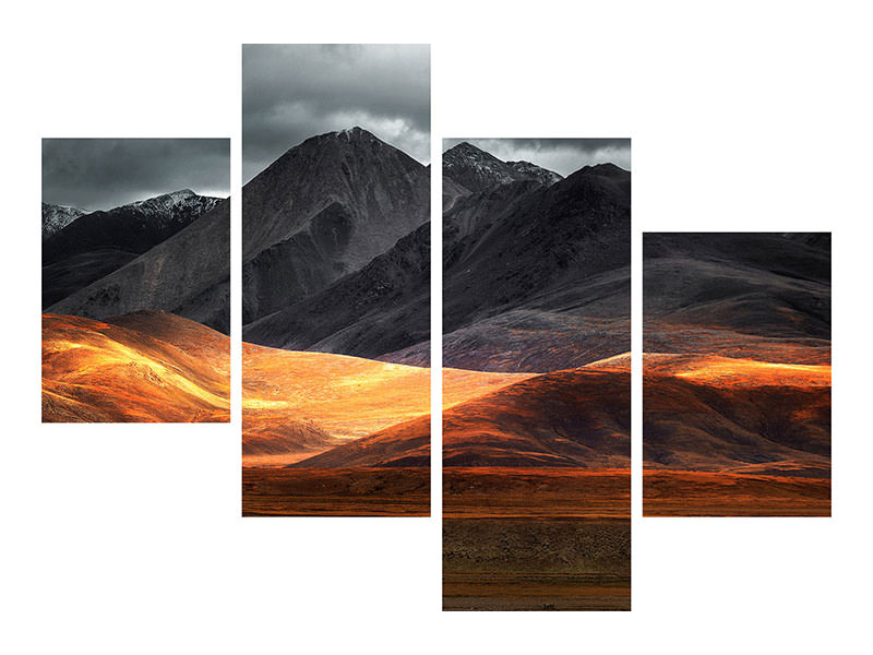 Modern 4 Piece Canvas Print Pano