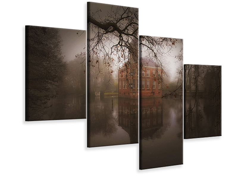 Modern 4 Piece Canvas Print Autumn Dream