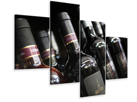 Modern - Canvastavla 4-delad Bottled Wines