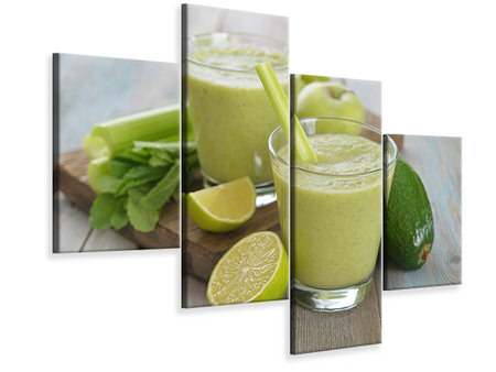 Modern - Canvastavla 4-delad Smoothie